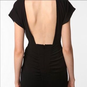 Silence + Noise backless black dress Size 6